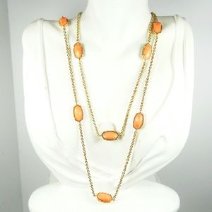KENDRA SCOTT Kelsie Station Necklace in Coral